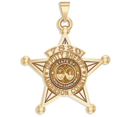 Personalized 5 Point Star South Carolina Sheriff Badge with Rank  Number   Dept