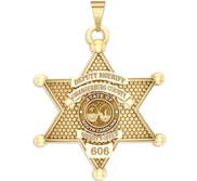 Personalized 6 Point Star South Carolina Sheriff Badge with Rank  Number   Dept