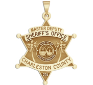 Personalized Charleston South Carolina Sheriff Badge with Rank and Number