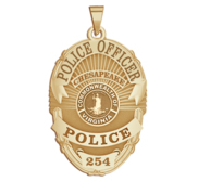 Personalized Chesapeake Virginia Police Badge with Your Rank and Number