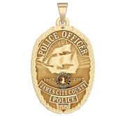 Personalized James City County Virginia Police Badge with Your Rank and Number