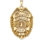 Personalized Virginia Police Badge with Your Rank  Number   Department