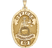 Personalized Alaska Corrections Badge with Your Rank and Number