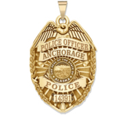Personalized Alaska Police Badge with Your Rank  Number   Department