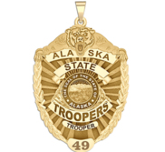 Personalized Alaska State Trooper Police Badge with Your Rank and Number