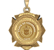 Personalized Colorado Corrections Badge with Your Number