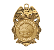Personalized Colorado Springs Police Badge with Your Number