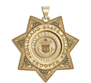 Personalized Colorado State Police Trooper Badge with your Number