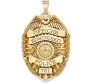 Personalized Mississippi Police Badge with Your Rank  Number   Department