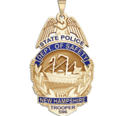 Personalized New Hampshire State Police Badge with Your Rank and Number