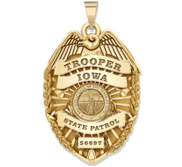 Personalized Iowa Trooper Police Badge with Your Rank  Department and Number