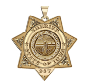 Personalized 7 Point Star Iowa Sheriff Badge with Number