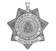 Personalized Wyoming Highway Patrol Badge  with Rank  Number and Dept