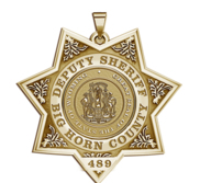 Personalized Wyoming Sheriff Badge  with Rank  Number and Dept