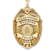Personalized Wyoming Police Badge with Your Rank  Number   Department