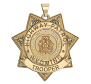 Personalized Wyoming Trooper Badge  with Rank  Number and Dept