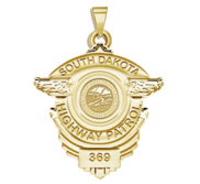 Personalized South Dakota Highway Patrol Police Badge with Your Rank and Number