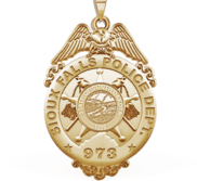 Personalized South Dakota Sioux Falls Police Badge with Your Number   Department