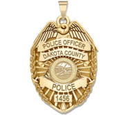 Personalized South Dakota Police Badge with Your Rank  Number   Department
