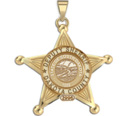Personalized South Dakota Sheriff Badge with Rank  Number   Dept