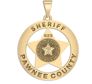 Personalized Pawnee Oklahoma Badge with Rank  Number   Dept
