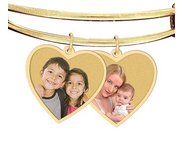 Additional Heart Shaped Photo Charm For Expandable Bracelet