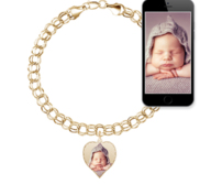 Photo Charm Bracelet w  1 Petite Heart Picture Charm