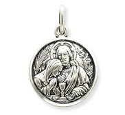 Sterling Silver First Holy Communion Antiqued Pendant Charm