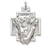 Sterling Silver Polished ECCE HOMO Cross Medal