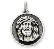 Sterling Silver Antiqued Ecce Homo Medal