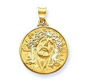 14K Yellow Gold  Ecce  Homo  Christ Head