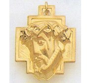 14K Gold Christ Head