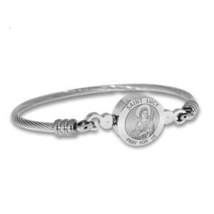 Stainless Steel Saint Lucy Bangle Bracelet