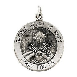 Sacred Heart of Mary Religious Medal