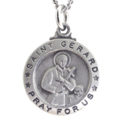 Saint Gerard Medal with 18 inch Curb Chain