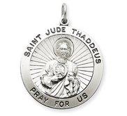 Silver Round Saint Jude Medal