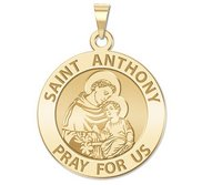 14K Yellow Gold  EXCLUSIVE  Saint Anthony Religious Medal