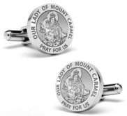 Our Lady of Mount Carmel Stainless Steel Cufflinks