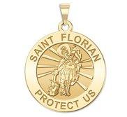 14K Yellow Gold  EXCLUSIVE  Saint Florian Religious Medal