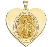Miraculous Medal Heart Shaped  EXCLUSIVE