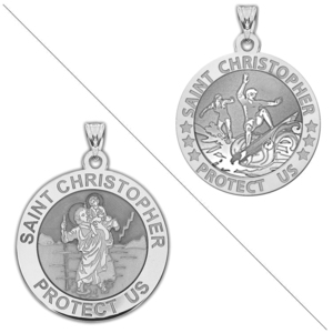 Surfing or Surf  Boy   Girl    Saint Christopher Doubledside Sports Religious Medal  EXCLUSIVE