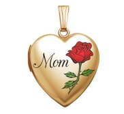 14k Gold Filled Mother s Day Heart Photo Locket