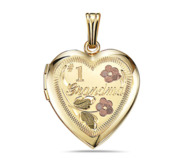 14k Gold Filled  1 Grandma Heart Photo