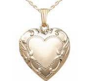 14k Gold Filled Heart Photo Locket