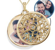 Yellow Gold Swivel Round Photo Locket
