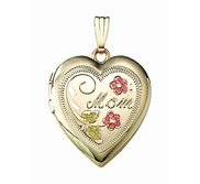 14k Gold Filled Mom Heart Photo Locket