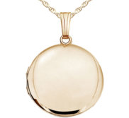 Solid 14k Yellow Gold Round Yellow Photo Locket