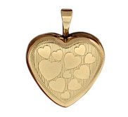 14k Gold Filled Small Heart Photo Locket
