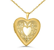 14k Gold Filled Love Heart Photo Locket