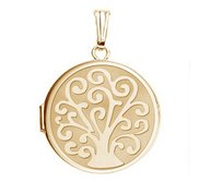 14k Gold Filled Tree Of Life Round Photo Locket